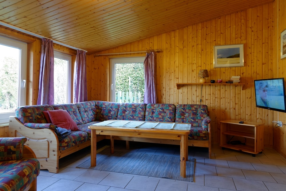 Kleines Ferienhaus Wohnzimmer