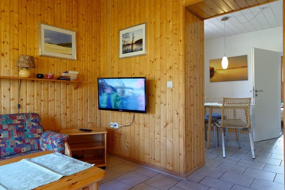 Kleines Ferienhaus Wohnzimmer/Küche